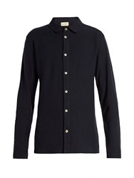 Oliver Spencer Long Sleeved Jersey Shirt Navy