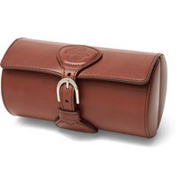 James Purdey And Sons Leather Watch Roll Brown