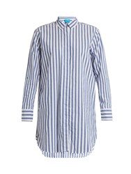 Mih Jeans Striped Cotton Shirt Blue White