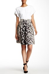 Gerard Darel Pleated Print Skirt Blue