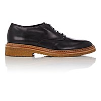 Barneys New York Women's Crepe Sole Leather Derbys Black Blue Black Blue