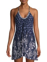 In Bloom Dandelion Printed Chemise Blue