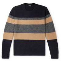 Todd Snyder Colour Block Knitted Sweater Navy
