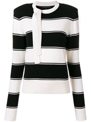 Marc Jacobs Horizontal Strip Sweater White