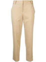 The Row Cropped Tailored Trousers Yellow And Orange