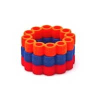 Heart And Noble Fanatic Nylon Circle Ring Trip In Orange Blue Red6