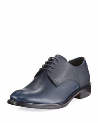 Bugatchi Torino Leather Lace Up Oxford Blue