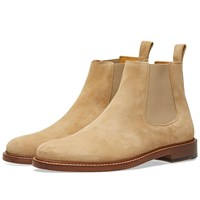 A.P.C. Ethan Suede Chelsea Boot Brown