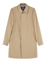 Aquascutum London Broadgate Single Breasted Raincoat Camel