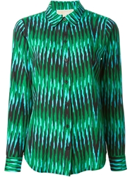 Michael Michael Kors Stripe Print Shirt Green
