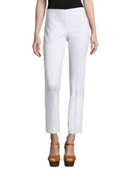Michael Kors Cotton Cropped Pants Optic White
