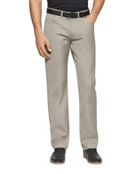 Calvin Klein Cotton Twill Pants Grey