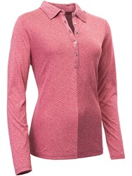 Abacus Bianca Long Sleeve Polo Red