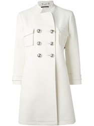 Gucci Double Breasted Overcoat White