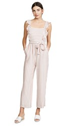 Paige Marino Jumpsuit Muted Clay Cove Stripe