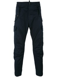 Dsquared2 Straight Leg Chino Trousers Blue