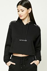 Forever 21 Dont Stop Graphic Hoodie Black White
