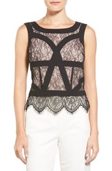 Women's Adrianna Papell Sleeveless Lace Top