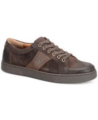 Born Men's Baum 6 Eye Moc Toe Sport Oxford Sneakers Men's Shoes Dark Brown