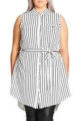 City Chic Plus Size Women's 'Lunch Date' Tunic Ivory