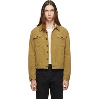 Saint Laurent Tan Corduroy Classic Jacket