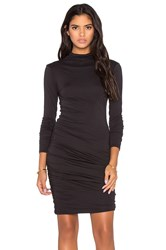Velvet By Graham And Spencer Pietro Gauzy Whisper Turtleneck Long Sleeve Dress Black