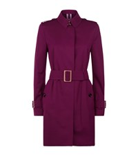 Burberry Rochester Mid Length Trench Coat Female Pink