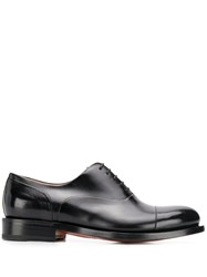Santoni Lace Up Oxford Shoes Black
