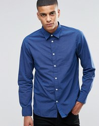 Selected Homme Shirt In Slim Fit Blue