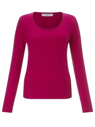 John Lewis Cashmere Scoop Neck Jumper Bright Pink