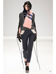 Jamie Wei Huang Apple Trousers With Fur Grey