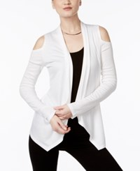 Inc International Concepts Off The Shoulder Cardigan Only At Macy's Bright White