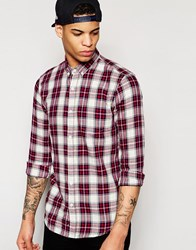 Pull And Bear Pullandbear Check Shirt In Red Red