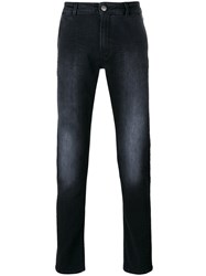 Pt01 Faded Jeans Men Cotton Polyester Spandex Elastane 33 Black