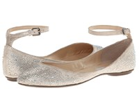 Blue By Betsey Johnson Joy Champagne Fab Flat Shoes Silver