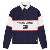 Tommy Jeans 5.0 'S 90S Blocked Rugby Shirt Blue