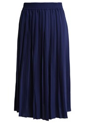 Minimum Junia Pleated Skirt Twilight Blue Dark Blue