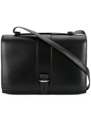 Hermes Vintage Flap Closure Shoulder Bag Black