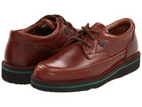 Hush Puppies Mall Walker Antique Brown Leather Men's Lace Up Moc Toe Shoes