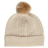 Joules Bobble Lambswool Blend Hat Porcelain