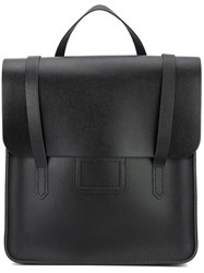 The Cambridge Satchel Company Saffiano Backpack Unisex Calf Leather One Size Black