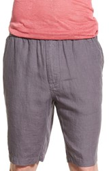 Slate And Stone Men's Drawstring Linen Shorts Charcoal
