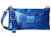 Harveys Seatbelt Bag Bow Mini Clutch Cobalt Clutch Handbags Blue