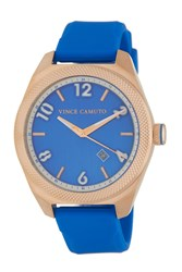 Vince Camuto 'S Textured Bezel Silicone Strap Watch 44Mm No Color