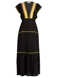 Daft Bodrum Embroidered Cotton Dress Black Multi