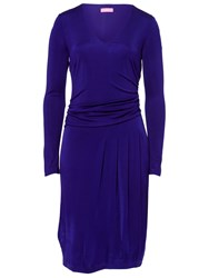 Basler Rouched Jersey Dress Lilac