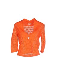 .. Merci Knitwear Cardigans Women Orange