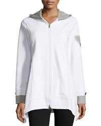 Neon Buddha Expedition Cotton Blend Hooded Jacket White Heather Gray