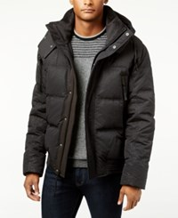 Andrew Marc New York Men's Summit Embossed Down Bomber Jacket Black