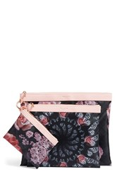 Ted Baker London Dynamic Butterfly Print 3 Pack Travel Pouch